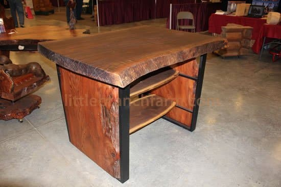 contemporary rustic table