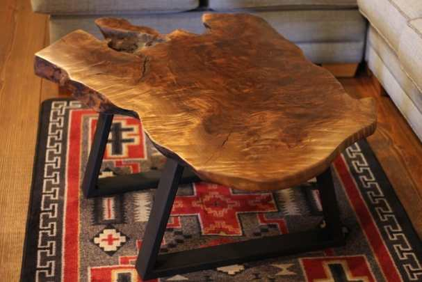 Rustic Modern Claro Walnut Coffee Table | Littlebranch Farm