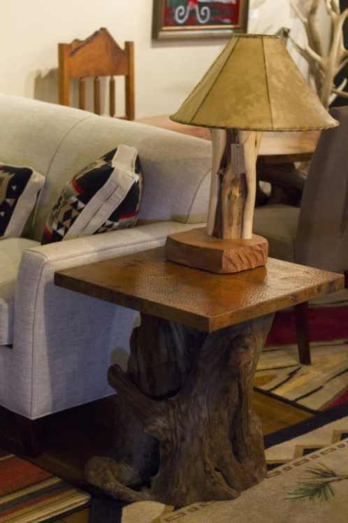 Rustic Copper Top and Cedar End Table | Littlebranch