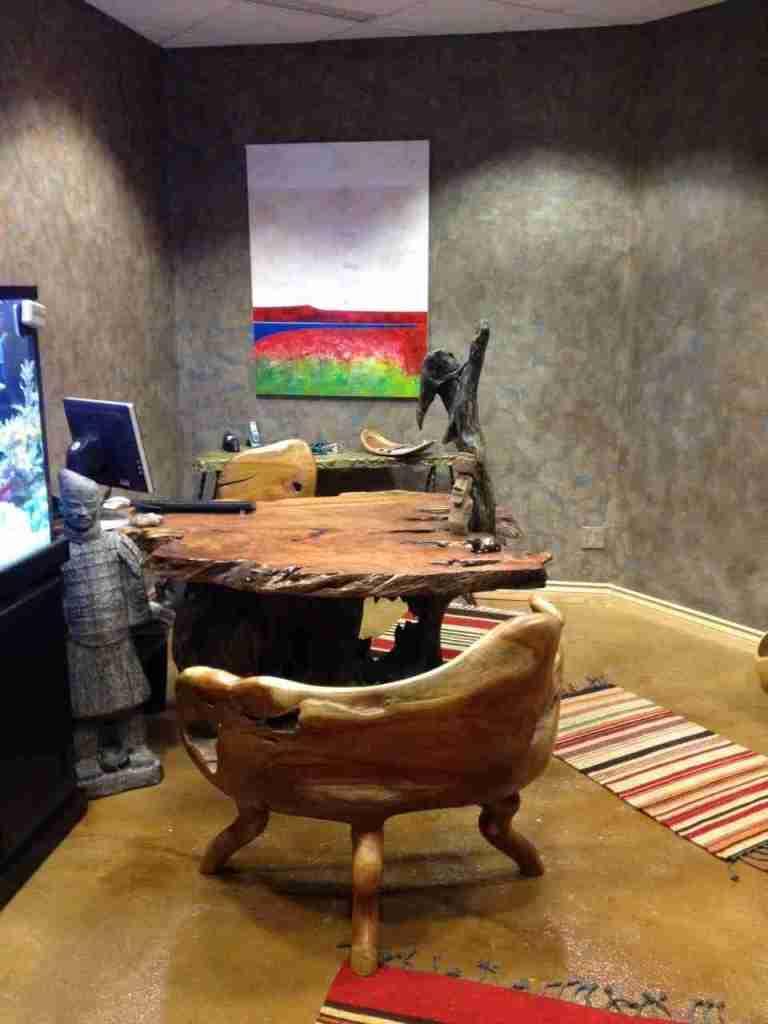 redwood burl desk