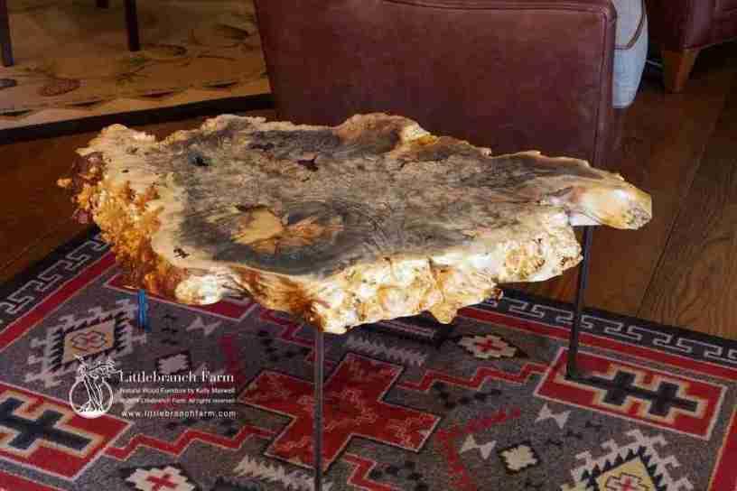 Live Edge Burl wood coffee table