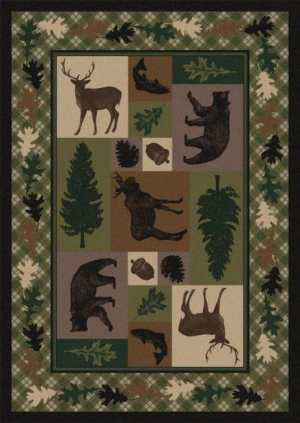 Wildlife Retreat   Southwestern Rugs by American Dakota