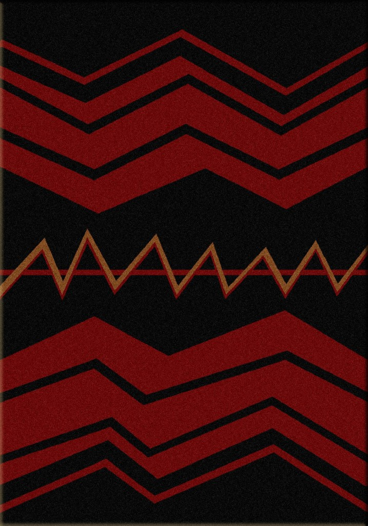 War Path- Black   Southwest rugs by American Dakota