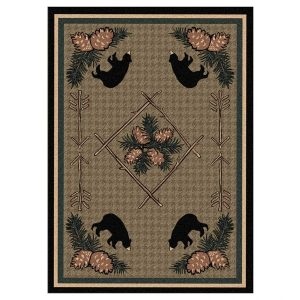 Bear cabin rug design