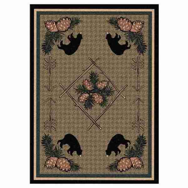 Bear cabin rug design