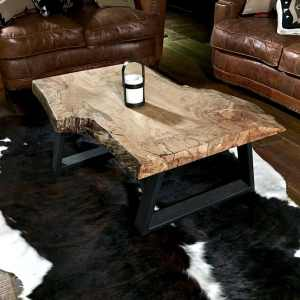 modern wood slab table