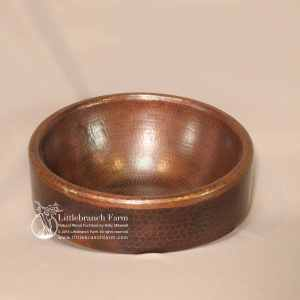 Farmhouse round copper sink