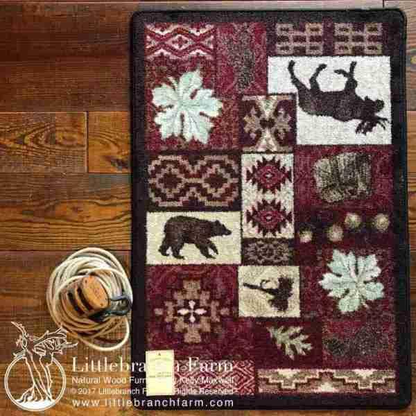mountain lodge rug design