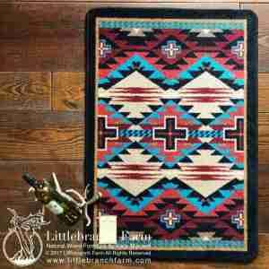 Bold teal rug
