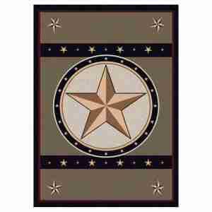 Stars on gray rug