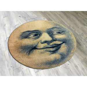 round moon face rug