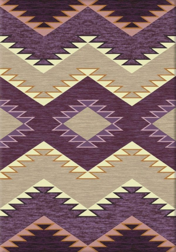 Plum Heritage western rug