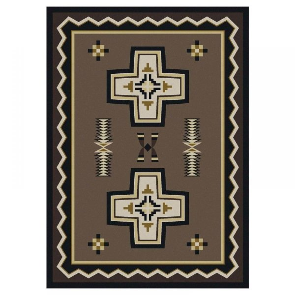 Brown southwest rug design