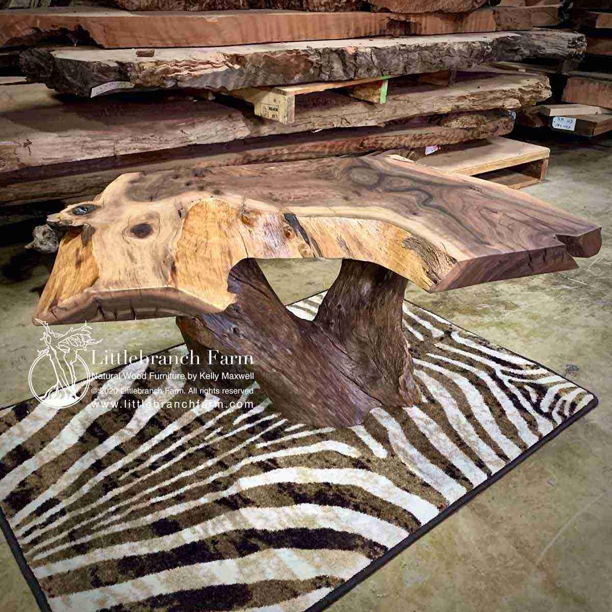 - Rustic Wood Slab Coffee Table Littlebranch Farm