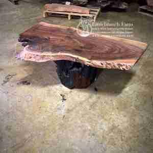 Claro walnut rustic coffee table
