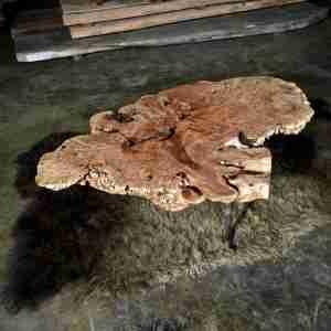 Maple burl wood table