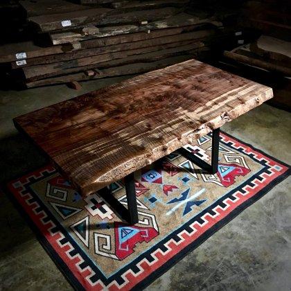 wood slab dining tables