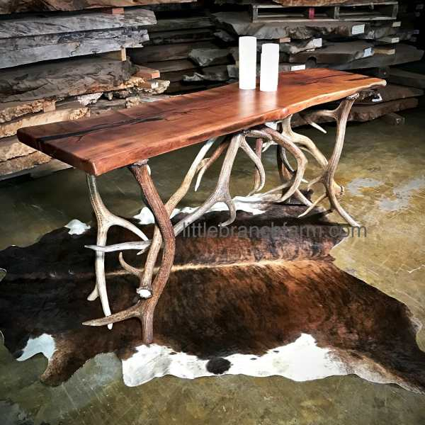 Antler live edge table