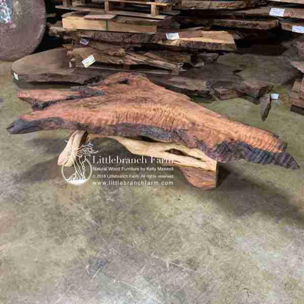 Rustic live edge slab table