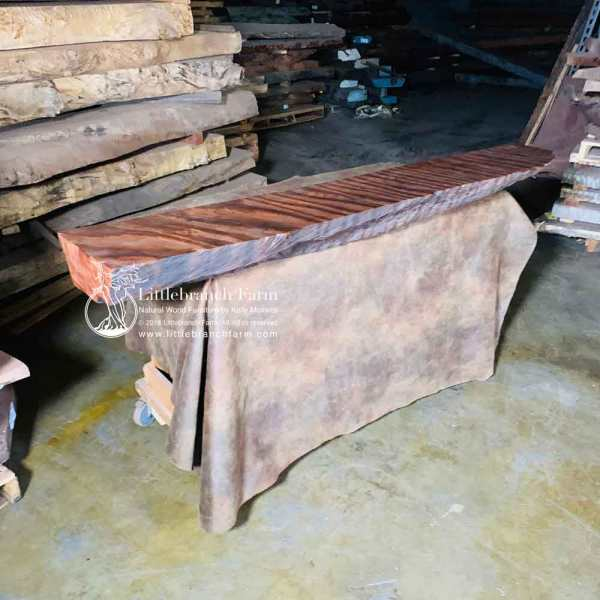 Wood plank rustic mantel