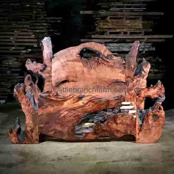 rustic bed