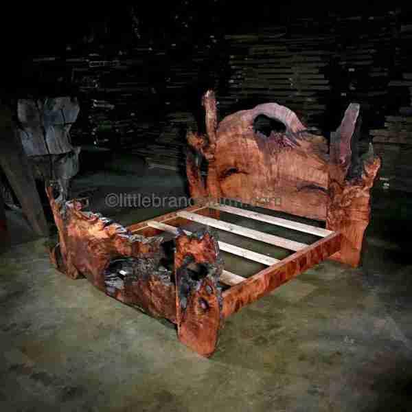 Wood slab bed