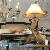 Rustic chic lamp in scene