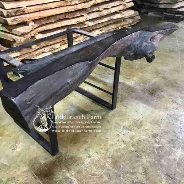 Redwood driftwood rustic mantel