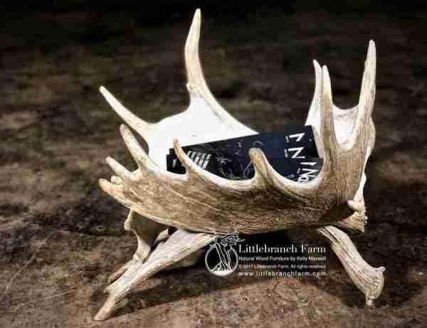 moose antler magazine rack
