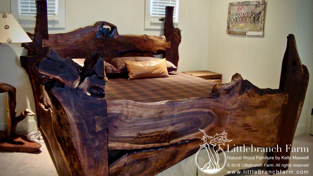 rustic beds natural wood bed and wood