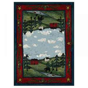 Bear farm area rug