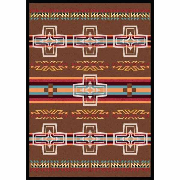Spanish cross rug design