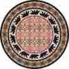 Round bear rug