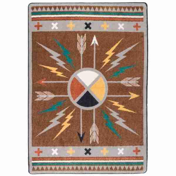 Native arrow rug