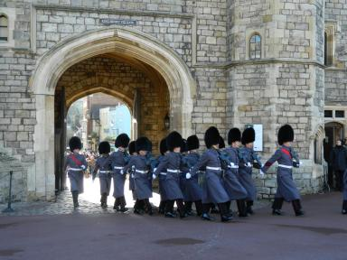 ... Followed by the guard ...