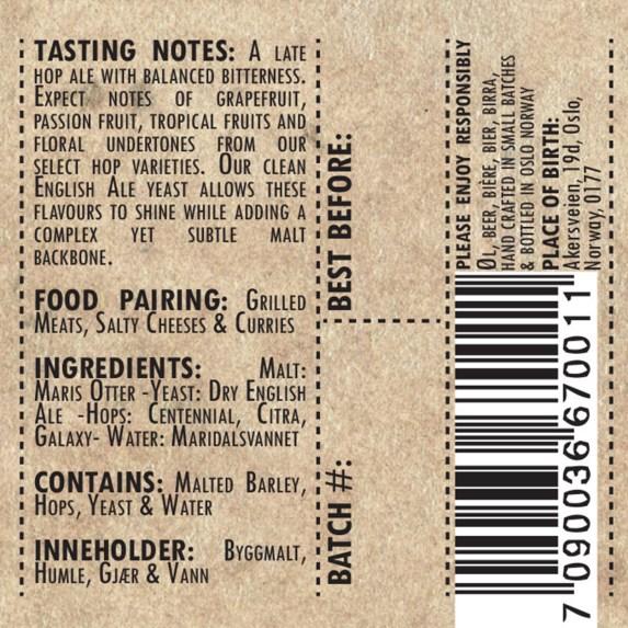 Detail of Label Artwork