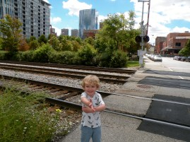 Oliver found a railroad crossing right away.