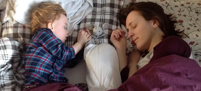 Co-sleeping with a toddler: the bolster and me (and how to make your own).