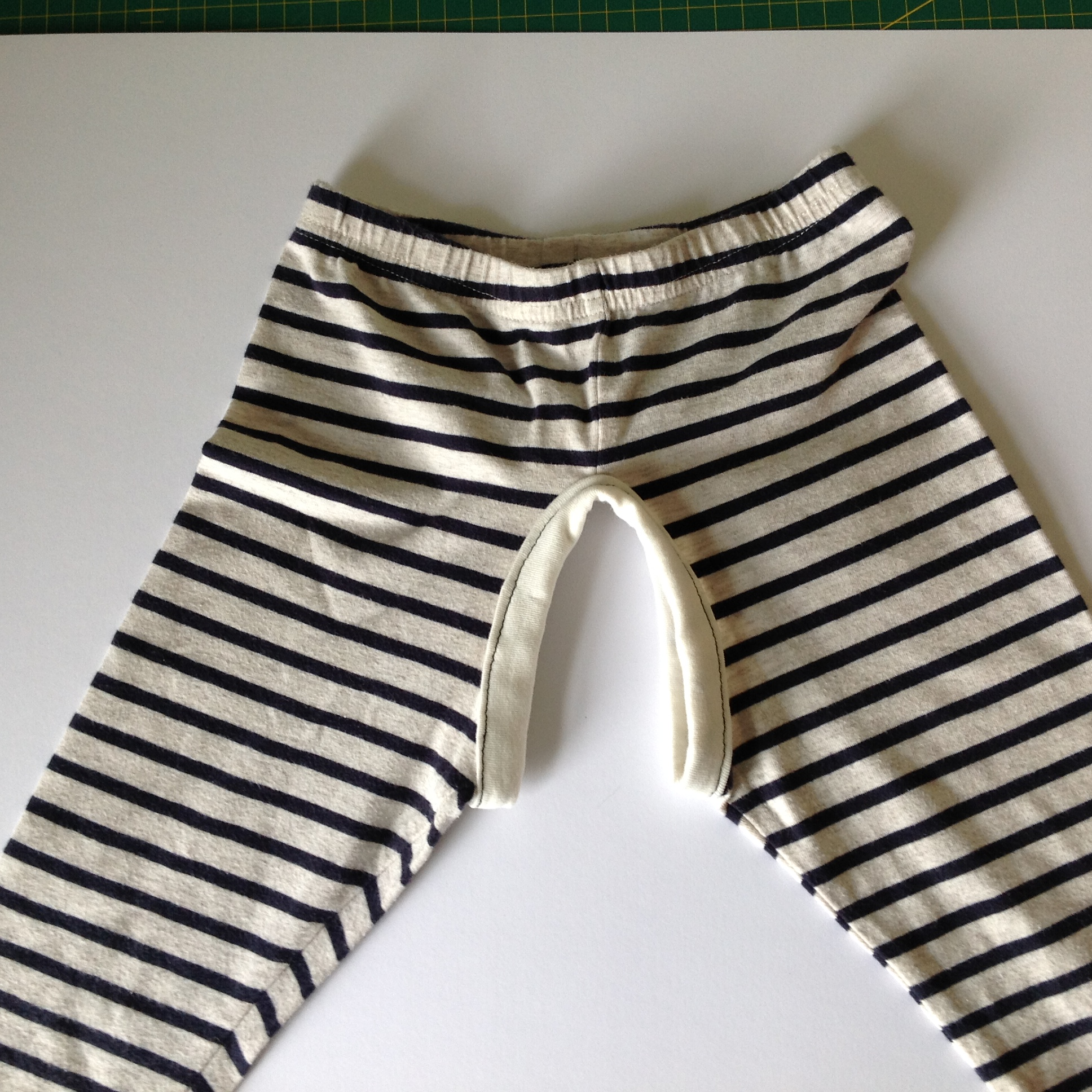 DIY Split crotch trouser pants