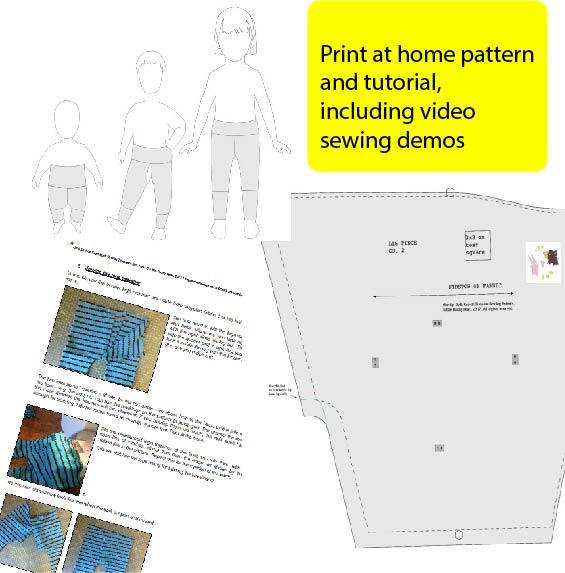 Split Crotch Trousers Pdf Sewing Pattern One Size Fits From 6m 4yrs