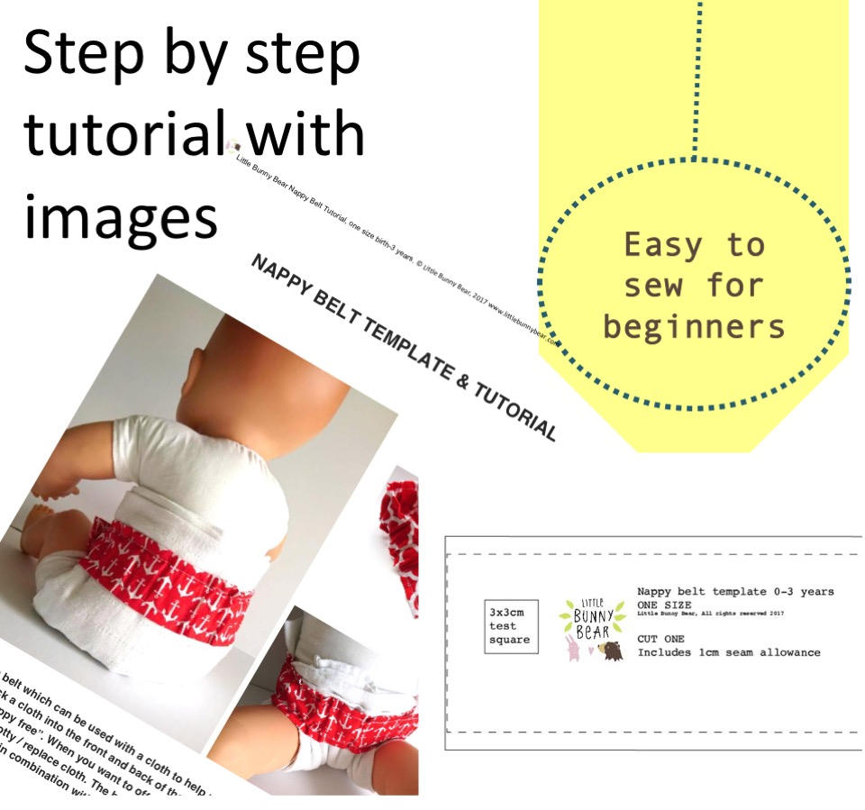 Nappy Diaper belt PDF sewing pattern for elimination communication ...