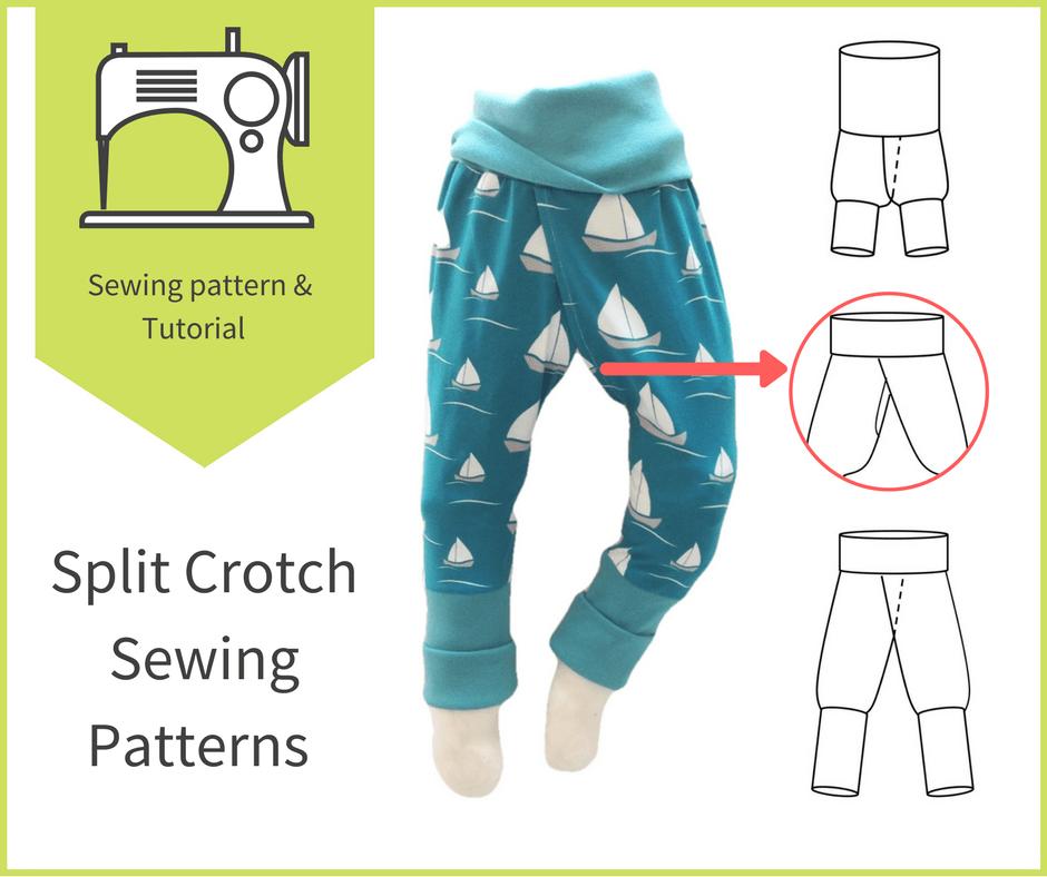 DIY split crotch pants