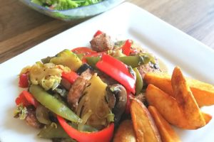 Simple Veg & Chicken Stir Fry