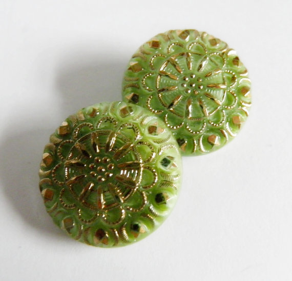 Czech Glass Buttons on Etsy