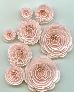 Spiral Flowers by crazy2bcrazy on Etsy