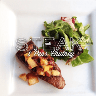 STEAK & PEAR CHUTNEY