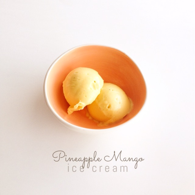 pineapple mango icecream