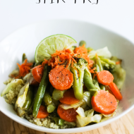Fresh Ginger Stir Fry