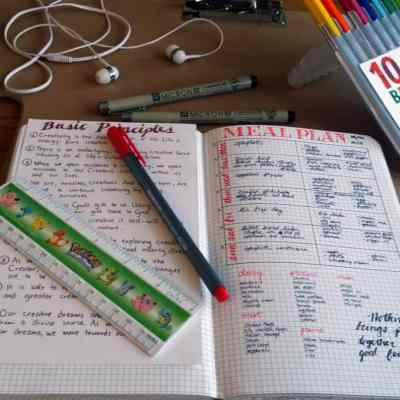 Meal Planning in the Bullet Journal spread overview | Littlecoffeefox.com