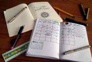 How I started my bullet journal journey journals and spreads   Littlecoffeefox.com